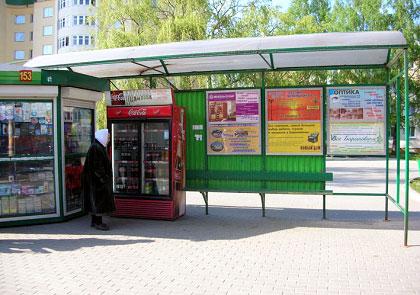 Реклама на автобусных остановках г. Барановичи